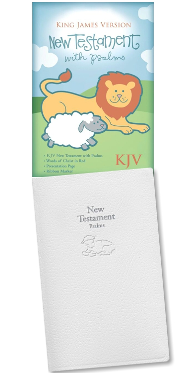 KJV Baby's New Testament, White Imitation Leather