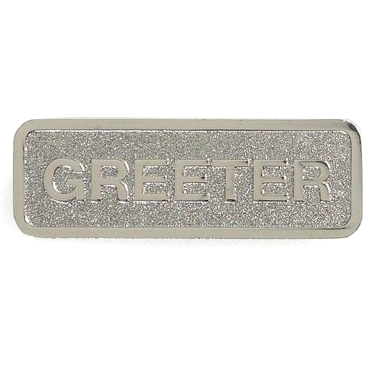 Silver Greeter Badge (Magnetic Back)