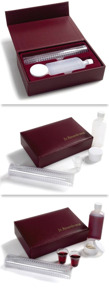 Portable Communion Set - Maroon